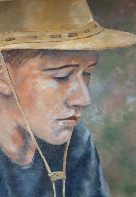 Pensive boy by Christine Joubert