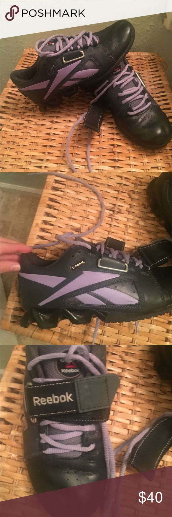 Reebok lifting shoes Reebok lifting shoes size 6.5 black and purple Reebok Shoes Athletic Shoes