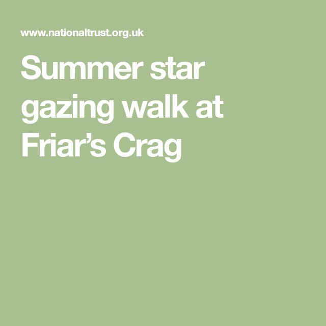 Summer star gazing walk at Friar's Crag