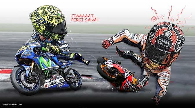 Rossi dan Marquez (Design:Abdillah)