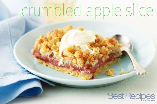 Crumbled Apple Slice - a warm after dinner treat #crumble #slice #apple #recipe