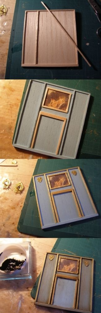 tutorial: miniature French wall panel
