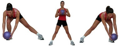 Side Lunges + Core Strength