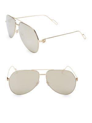53b93276a6c4 CARTIER 62MM Metal Aviator Sunglasses.  cartier