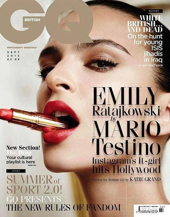 Emily Ratajkowski My second hover for British GQ! Shot by the incredible Mario Testino