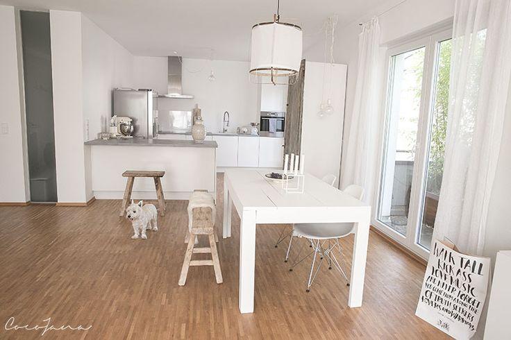 kueche ideen weiss graue betonarbeitsplatte esszimmer. Black Bedroom Furniture Sets. Home Design Ideas