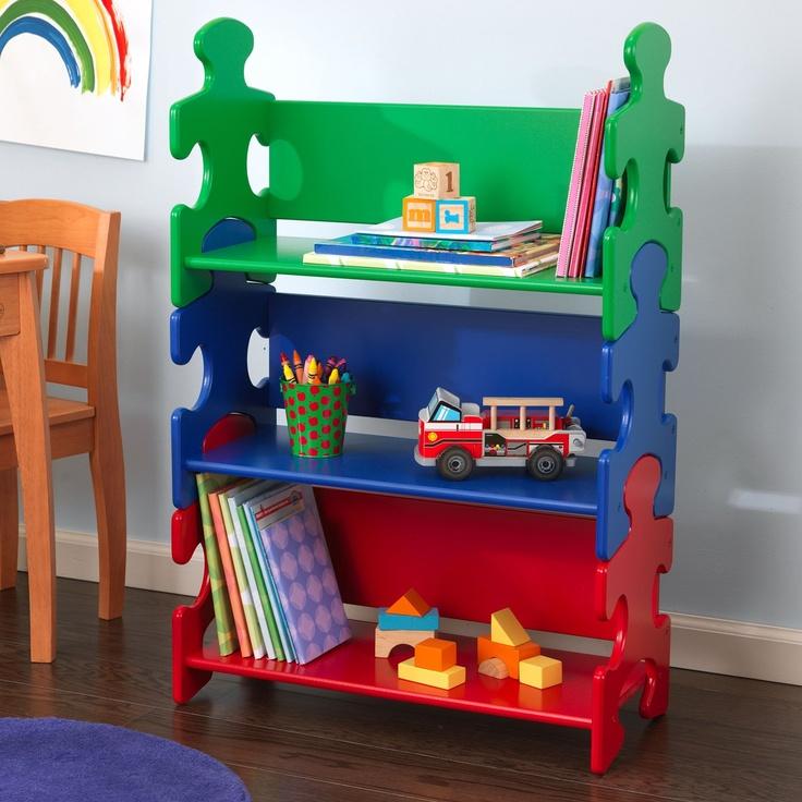 KidKraft 14400 Puzzle Bookshelf - Home Furniture Showroom