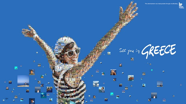Up Greek Tourism campaign. Design by Tsevis.  Just Excellent !