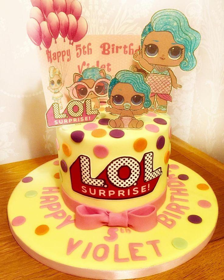 LOL Doll cake for Julie Weimer vanilla sponge. Happy Birthday to Violet! #lolsur… – amber 6th birthday