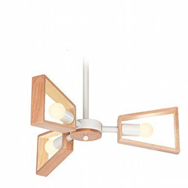 Lampadario in Legno Massiccio Moderna Sala da Pranzo Moderna in Legno Rotante Illuminazione Personalizzata Illuminazione Soggiorno in Legno Creativo,Bianca