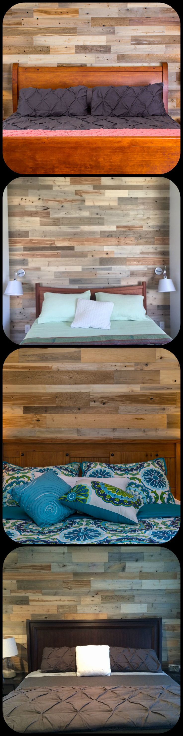 Bedroom Accent Wall Created Using Timberchic Our Customers Did Wonderful Jobs On These Walls
