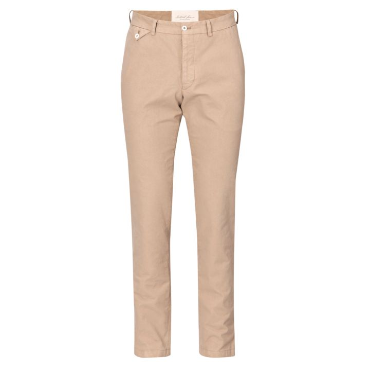 Oscar Jacobson - BO Trousers (Chinos) (Beige) (Front View)