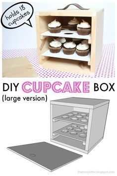 the CUTEST DIY cupcake carrier ever! Inspired by Anthro's cupcake box - you can build this one for yourself with free plans and tutorial! Adorable.