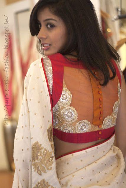 Fashion saree blouse designs 18