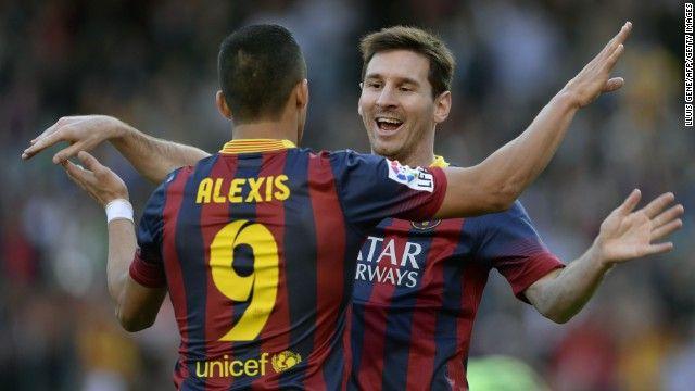 Lionel Messi breaks Barcelona record