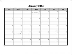 CalendarsThatWork.com - Be Dependable: Write it Down on a Printable Calendar- lined calendar- landscape
