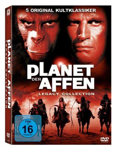 PLANET DER AFFEN Collection 1968-1973 Charlton Heston 6-DVD-Box 5 Kinofilme OVP!
