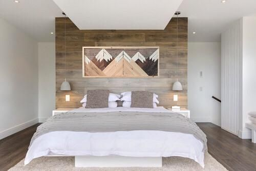 Mountain Range Wood Wall Art