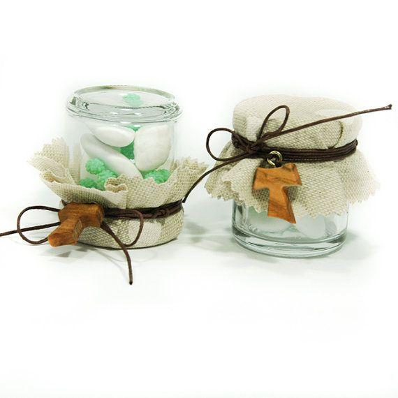 Barattolini di confetti come bomboniera per Prima di sadilla