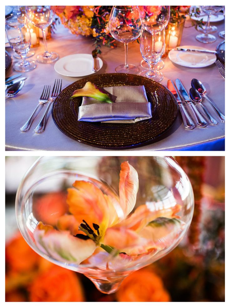 Sunset Theme Wedding Lighting And Table Top Decor At Pelican Hill Colors Pinterest