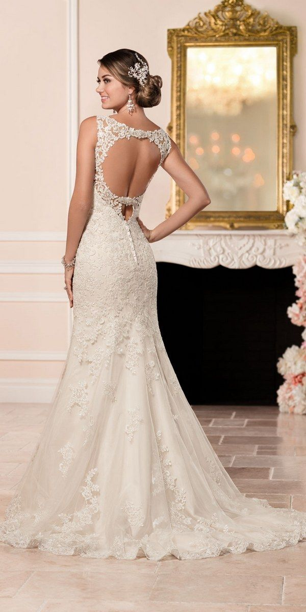 Stella York Lace Fit and Flare Wedding Dress style 6335 b / http://www.deerpearlflowers.com/stella-york-fall-2016-wedding-dresses/3/