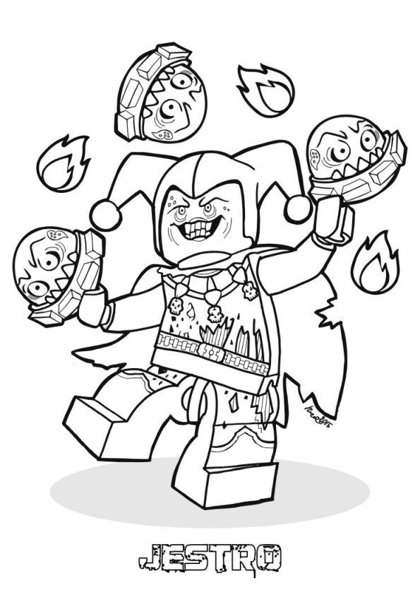 Coloring Page Lego Nexo Knights