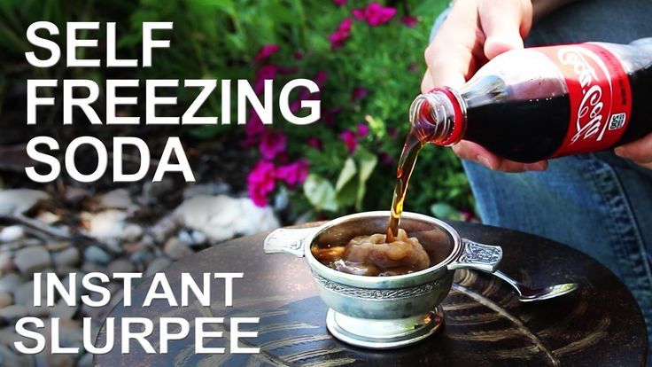 Instant slushee! (The trick that works on any soda!)