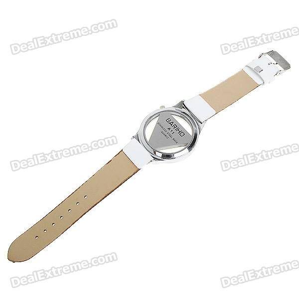 Stylish Quartz Wrist Watch with Crystal - White (1*377) - Free Shipping - DealExtreme