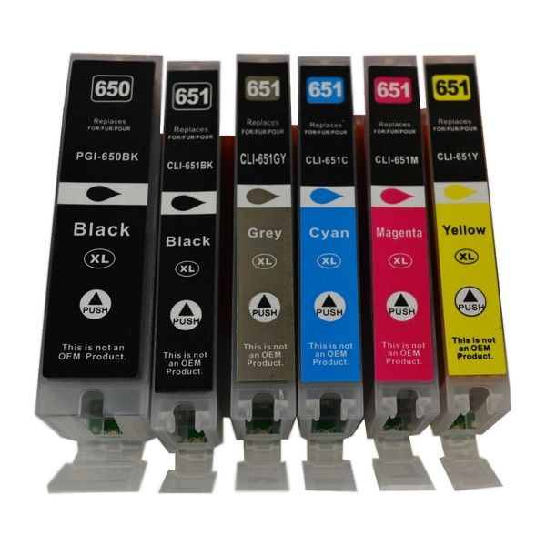 Canon PGI-650XL CLI-651XL Compatible Inkjet  Set 6 Cartridges [Boxed Set]#Aussie #Printer #Ink is proud to present another popular product #printer #ink package, check the website for the details, #CANON SET of 6  Cartridges  Our Price @ 56.05, PGI-650XLBK, CLI-651XLC, CLI-651XLM, CLI-651YXL, CLI-651BKXL, CLI-651GYXL, Major retailer Price #Genuine ink cartridge Set of 6 Their Price $115.00 That's what I call savings , as we say QUALITY AT LOW PRICES GUARANTEED.
