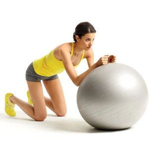 Use a stability ball to round out your ab workout