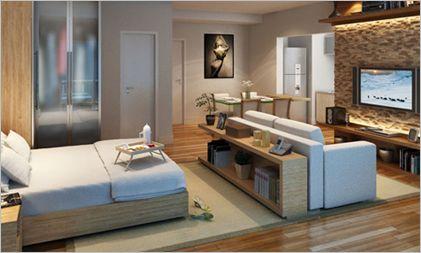 decoração de apartamento pequeno de 30m com ambientes integrados