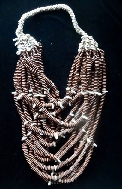 Beads and Shell Necklace Huge Jewelry Home Decoration Women Fashion Tribal Art #Ratna