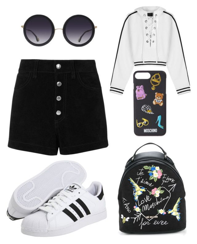 """Senza titolo #478"" by kirsten-weigh on Polyvore featuring moda, Love Moschino, adidas Originals, rag & bone/JEAN, Puma, Alice + Olivia e Moschino"