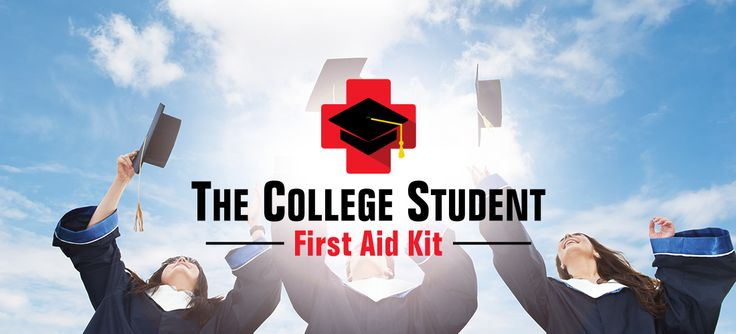 College / first aid / student logo