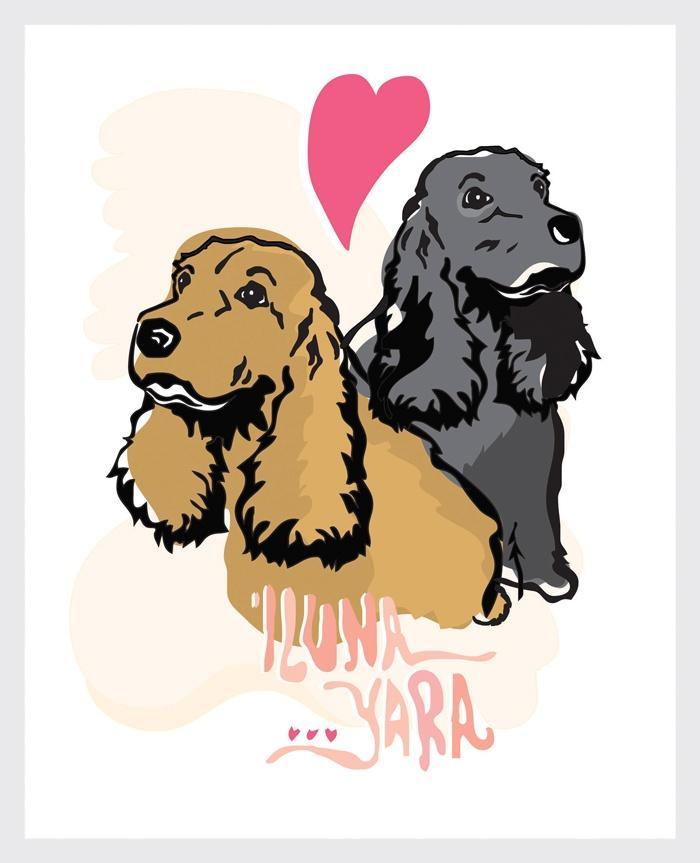 ilustracion perros