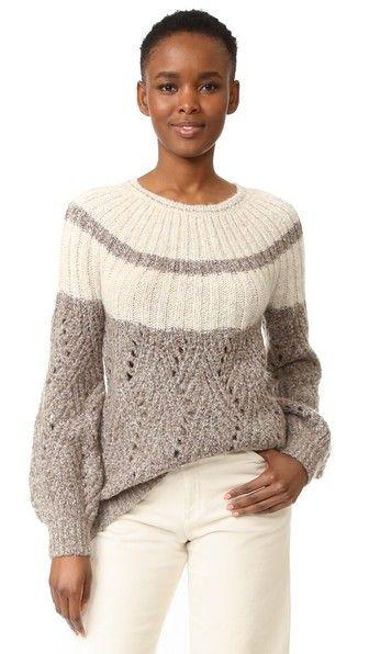 TSE Cashmere Шеврон Stitch крупной пуловер