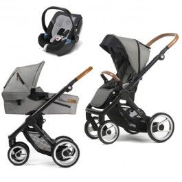 Mutsy Evo Urban Baby Stroller - stone grey with leather handles for my little boy