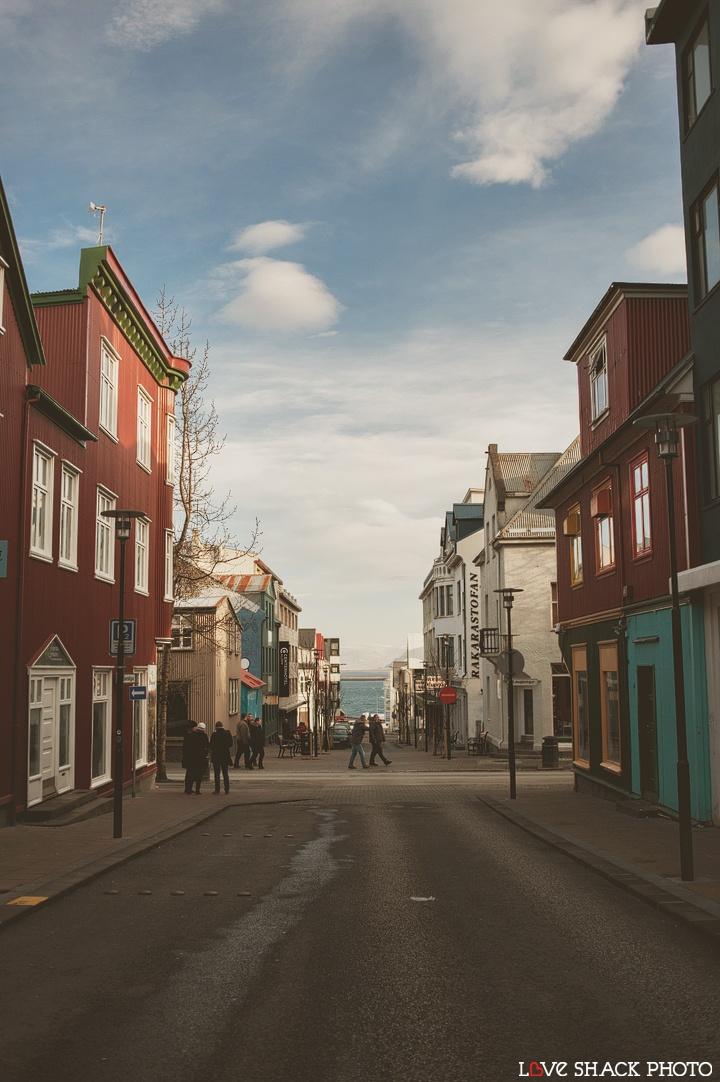 "Klapparstígur, Downtown Reykjavik, Iceland - Rakarastofan means ""the barber's shop"" and has been on Klapparstígur for near 100 years."