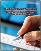 Standard Operating Procedure: An example manual of operating procedures for an administrative assistant