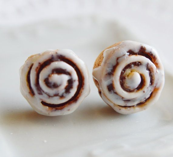 These scented cinnamon roll earrings: | 39 Accessories That Look Exactly Like Your Favorite Food