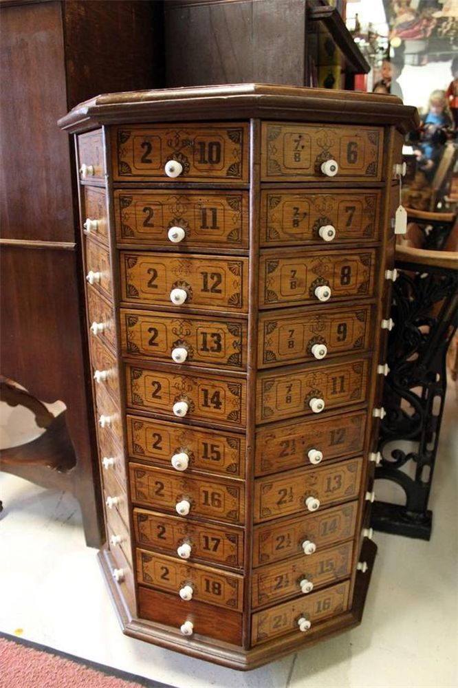 36 Quot Antique Hardware Store Revolving Cabinet 80 Drawers W