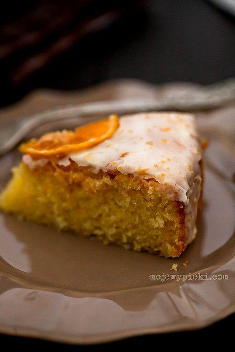 Ciasto cytrynowe z polentą  i lukrem mandarynkowymLemon Cake