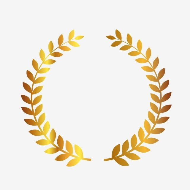 Vector Flat Golden Wheat Border Element Vector And Png In 2021 Circle Borders Ribbon Banner Prints For Sale