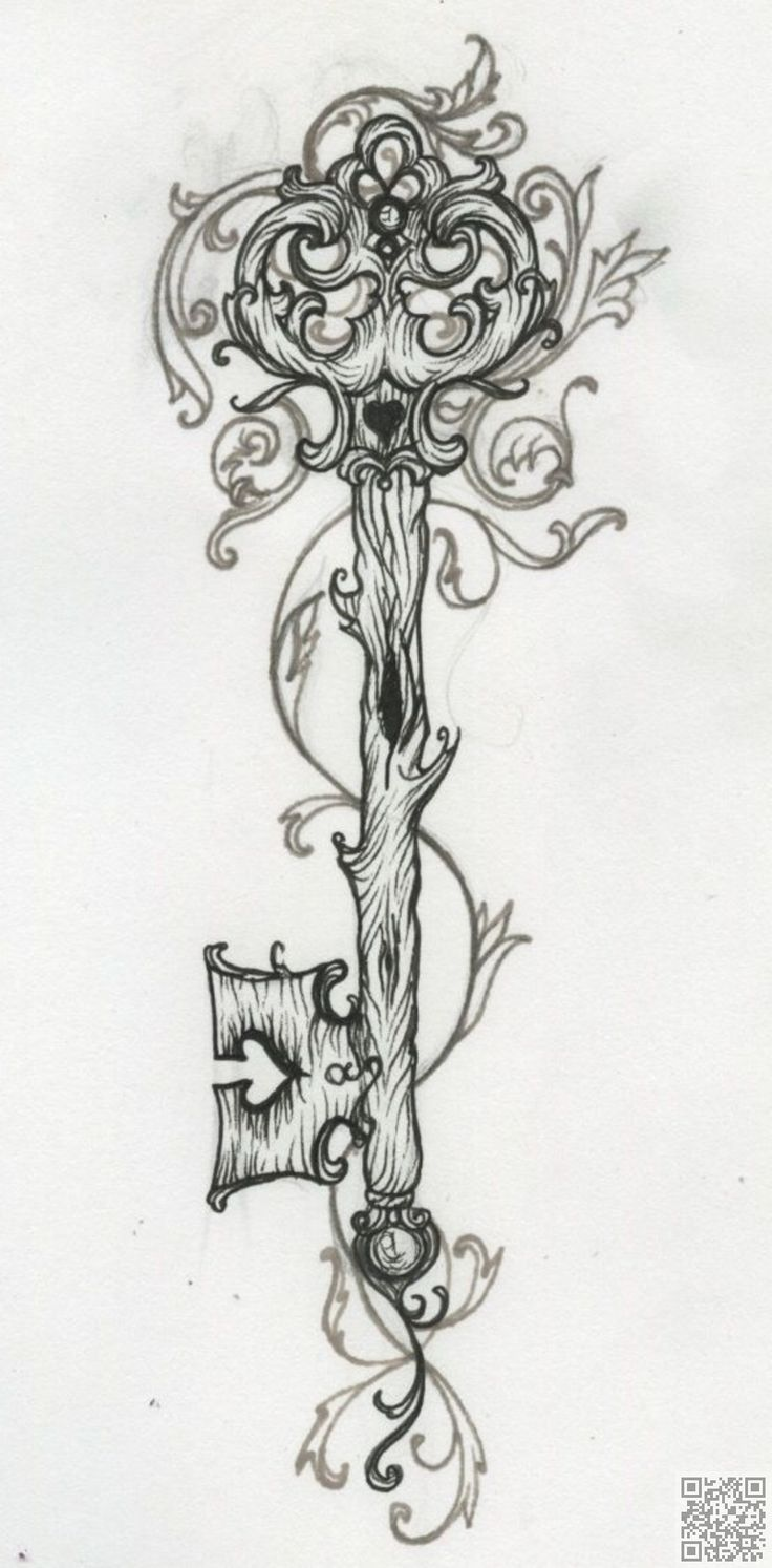13. #llave de madera de - 41 #tatuajes inspiradora y #sobre todo blanco…