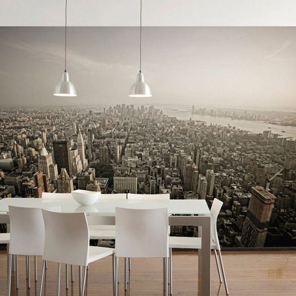 Dining room idea photo wallpaper wall mural diningroom for Dining room mural