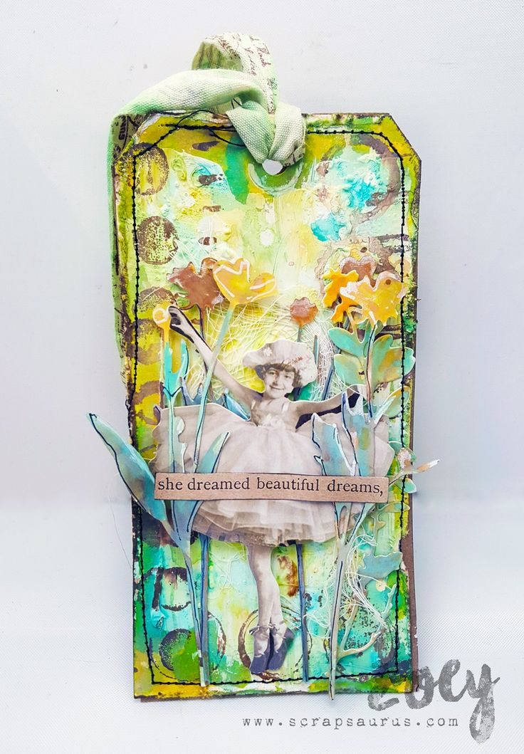 Flower Girl Tag | Zoey - Mixed Media & More