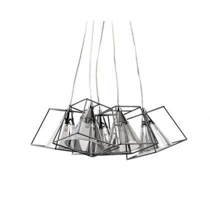 Titan Square 5 Light Cluster Pendant Ceiling