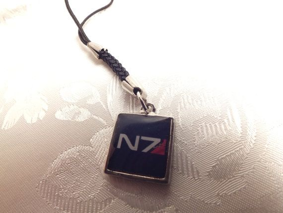 Mass Effect N7 Cell Phone Charm, Keychain
