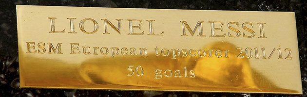 El trofeo al máximo goleador de Europa está listo para Messi