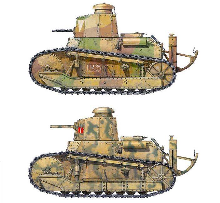 """""""Fiat 3000. Command Tank, 2nd Platoon of 2nd Tank Company, II Battaglione of Reggimento Carri Armati, Rome 1930 & L 5/30. XII Battaglione Carri L, Gruppo Mobile A, Sicily July 1943"""", Richard Chasemore"""